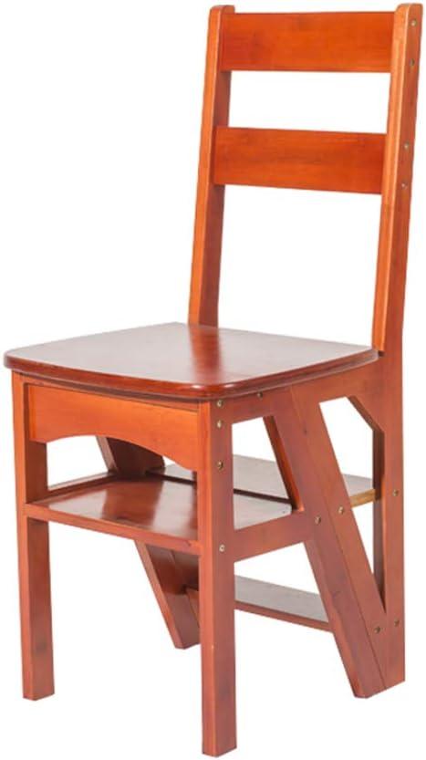 Taburete Plegable marrón Escalera Multifuncional Inicio Silla de Escalera de 4 Pasos para Adultos Cocina para niños Taburete de Paso Estante de Flores portátil/Banco de Zapatos/Estante: Amazon.es: Hogar