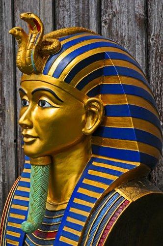 Oro máscara, muertos máscara de Tutankamón, proporciona-ench-amón réplica en su