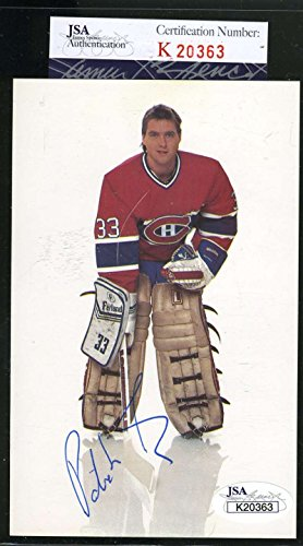 Patrick Roy Hand Signed (PATRICK ROY JSA COA Autograph Early Canadiens Postcard Hand Signed Authentic)