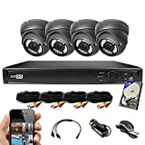 Best Vision 8CH 1TB TVI/AHD/Analog/IP 1080P HD Security Surveillance System with (4) 2MP Outdoor Varifocal Dome Cameras (Black) – Hikvision Compatible