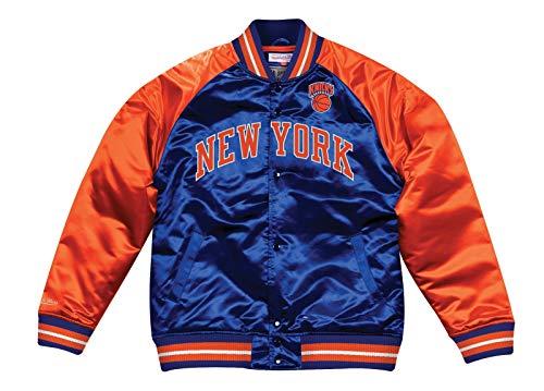 Mitchell   Ness New York Knicks NBA Tough Season  Retro Satin Jacket ... 2195d26eb