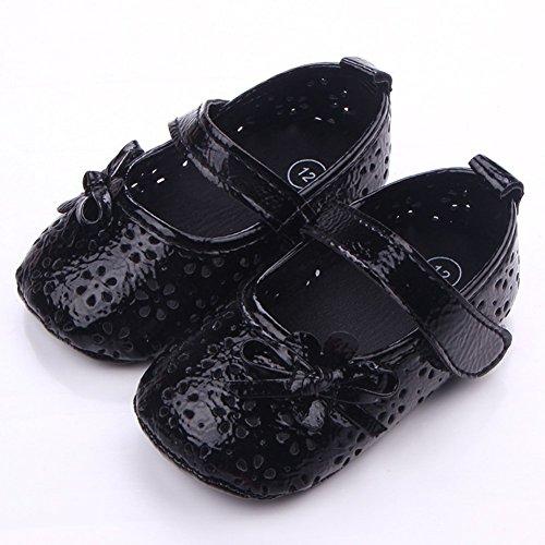 exiu bebé niña diseño de flores niños suave Cuna Prewalker Sole Zapatos 0–12M rojo Rosa y rojo Talla:9-12 meses negro