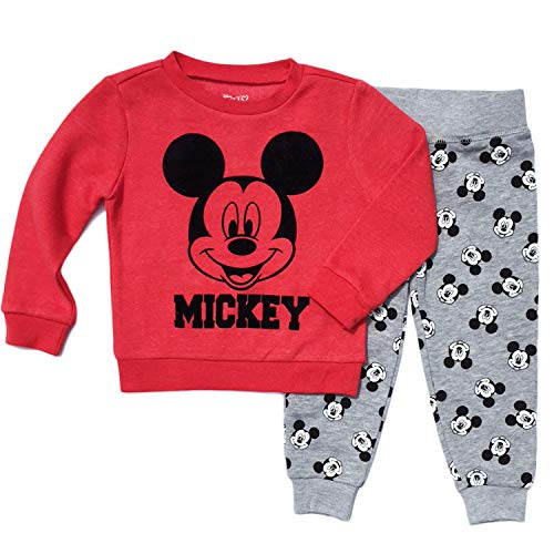 Mickey Mouse Little Boys Toddler Pant & Top Fleece Set (4T)