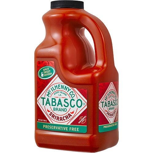 TABASCO Sriracha Hot Chili Sauce - Half Gallon (64 oz.) (0.5 Gallon Pepper)