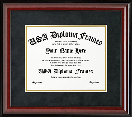 Cherry Glossy Mahogany Diploma Frame (8.5 x 11 (University Cherry Wood)