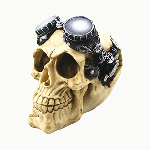 Fenleo Aquarium Accessories Fish Tank Decor Resin Skull Glow in The Dark Stone Crawler Decoration