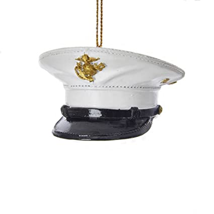 Kurt Adler US Marine Corps Dress Uniform Hat Ornament