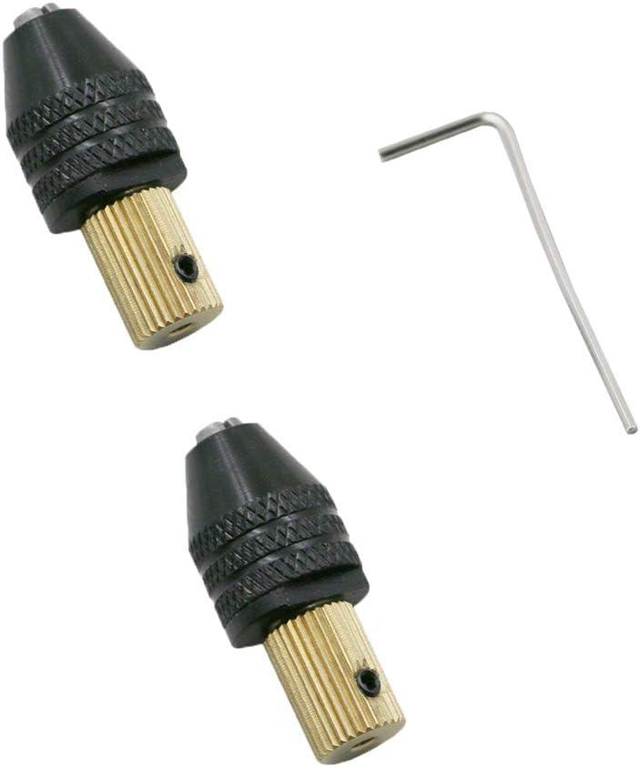 Ximark 2 piezas 0.125in eje de motor eléctrico Mini pinza de fijación adaptador de broca de broca 0.020in-0.126in broca Micro pinza de fijación