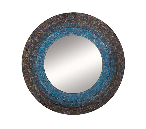 Deco 79 97975 Mosaic Wooden Wall Mirror, 30