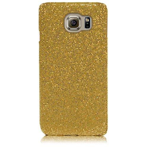 Xtra-Funky Serie Samsung Galaxy S6 brillantes caso del brillo Arco Iris chispeante de lentejuelas del brillo - Púrpura Oro