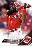 2016 Topps Team Edition #CR-4 Brandon Phillips Cincinnati Reds Baseball Card in Protective Screwdown Display Case