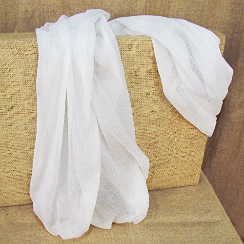 60 Yards White Tobacco Cloth Natural Cotton Fabric Lightweight for Wedding Decor by JCS by JCS (Image #1)
