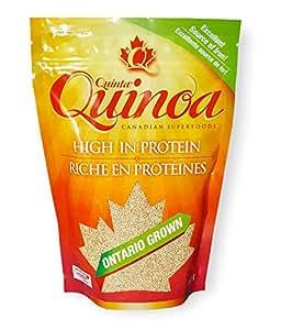Quinoa Gluten free, Quinta Quinoa, White Quinoa Vegan Foods; 100% Grownas Canadian Quinoa that supports a healthy vegan and gluten free diet;high in fibre, high in zinc and a source of calcium (400g)