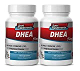 Dhea - DHEA 50mg - Promote Heart Health, Strengthen Bones and Mood with DHEA Supplement (2 bottles 120 capsules)