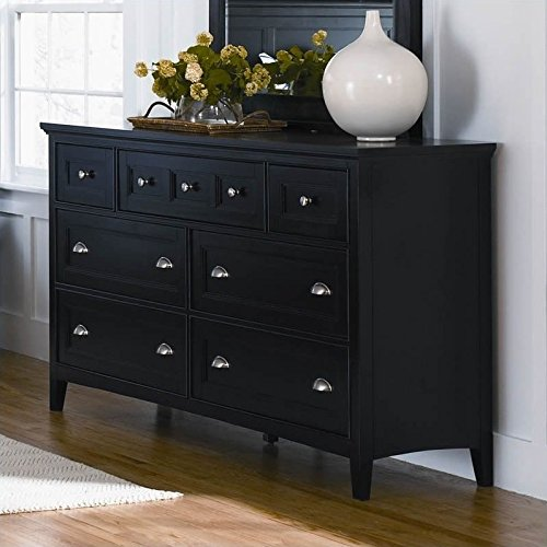 (Magnussen B1399 Southampton Black Finish with Brushed Nickel Hardware Wood Double)
