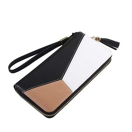 628d667de2a7 Amazon.com: JNCLEO Women Wallets Pu Leather Zipper Wallet Women's ...