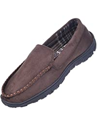 Men's Casual Anti Slip Rubber Sole Indoor Outdoor Slip on Driving Loafers Moccasins Slippers Shoes