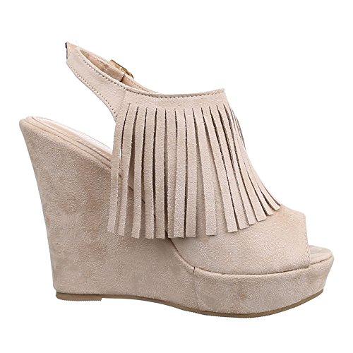 Ital Design compensées chaussures Beige femme fq6HPB1q