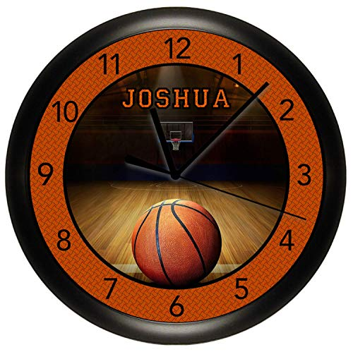 (Susie85Electra Personalized Basketball Wall Clock Sports Team 10 Inch Bedroom Decor)