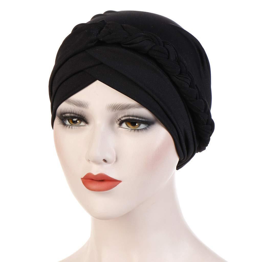 Committede Kopftuch Damen Muslimisch Kopfbedeckung Chemo Kopft/ücher Damen Hijab Bandana Elegant Turban Retro Turban f/ür Frauen Haarausfall Krebs Chemo