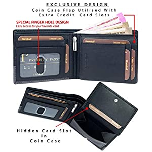 Hornbull Buttler Men's Black Genuine Leather RFID Blocking Wallet