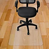 """Kuyal Chair Mat, 2MM Rolling Chair Mat for Hardwood Floor, Transparent PVC Home Office Floor Protector Mat (36"""" X 48"""" with Lip)"""