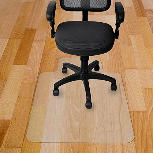Transparent Mat - Kuyal Chair Mat, Rolling Chair Mat for Hardwood Floor, Transparent PVC Home Office Floor Protector Mat (36