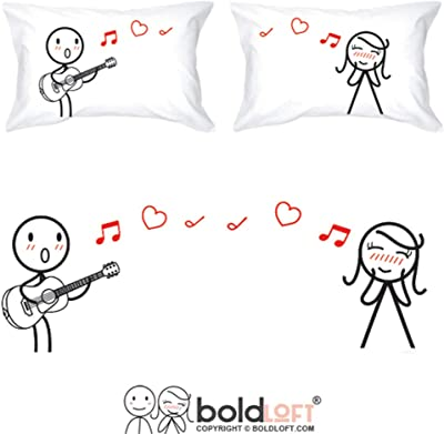 BoldLoft Love Me Tender Couples Pillowcases for Him and Her|Cute Girlfriend Gifts for Christmas,Birthday,Anniversary,Valentine's Day|His and Hers Gifts for Couples|Romantic Gifts for Her