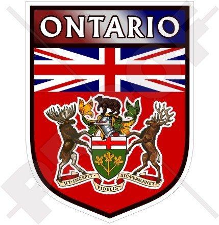 Ontario Canada Pc (ONTARIO Province Shield CANADA Canadian 100mm (4