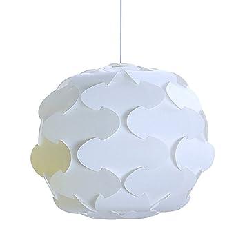 Lámpara de techo, diseño de puzle estilo retro, Blanco, Large(48cm)