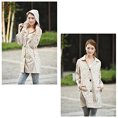 Adulte Style Jacket Sweet Imperméable Femmes Poncho Filles Floral Xfentech 01 Pluie qOBx5gwx