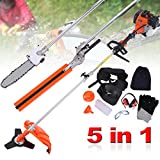 PanelTech 5 in 1 52CC Brush Cutter Hedge Trimmer Pruning Chainsaw...