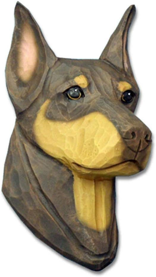 Doberman Pinscher Sign Plaque Wall Decor Red//Tan Uncropped