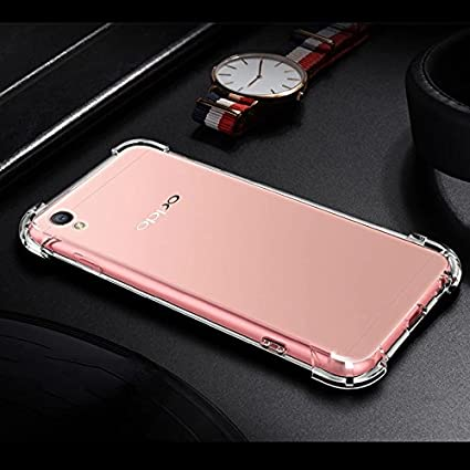 free shipping 9be51 77f0c Ankirant Bumper Corner Soft Silicon Shockproof Corner Transparent Back Case  Cover for Oppo A37 (Transparent)