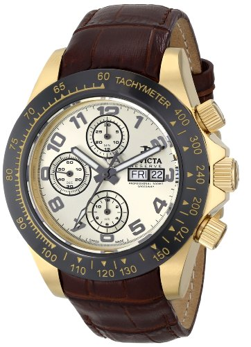 Invicta Men's 10940 Speedway Analog Display Swiss Automatic Brown Watch