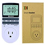 Timer Outlet, UKOKE 7 Day Electrical Timer Switch, 120V Appliance Timer with Outlet, Weekly Programmable Digital 3-Prong Outlet, Wall Timer Switch, Vacation Random Mode Outlet, Plug in Light Timer