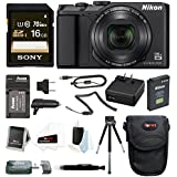 Nikon Coolpix A900 Digital Camera (Black) with 16GB Accessory Bundle