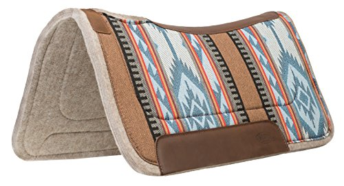 (Weaver Leather Canvas Top, Contoured Saddle Pad - Wool Felt Liner)