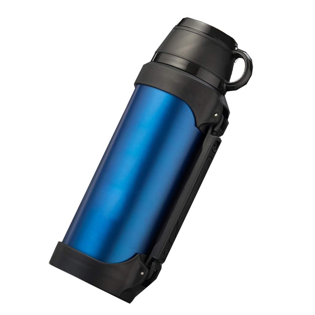 XUEZM Thermosbecher, Blaue Vakuum-Reise-Flasche Kaffeekanne 304 Edelstahl Verbrühungssicher Doppelwandig (Farbe : Blau, größe : 1.7L)
