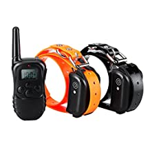 Waterproof Dog Training Collar, Petist 330 Yards Remote Training 2 Dogs Rechargeable Collar with Light/Beep/Vibration/Static Modes for Large, Medium and Small Dogs