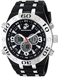 Wrist Armor Mens 37100007 C23 Analog-Digital Display Quartz Watch with Black Rubber Strap