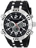 Wrist Armor Men's 37100007 C23 Analog-Digital Display Quartz Watch with Black Rubber Strap