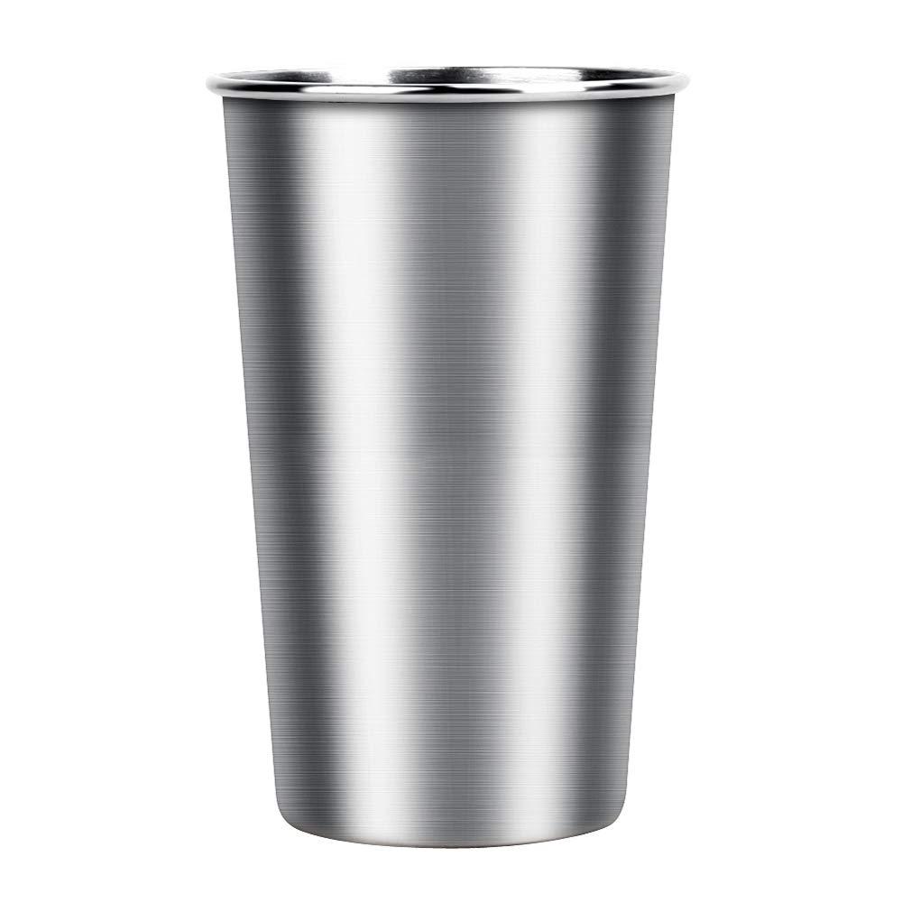 Tumbler Pint Camping Portable Beer Cup 304 Stainless Steel Metal Drinking Mug