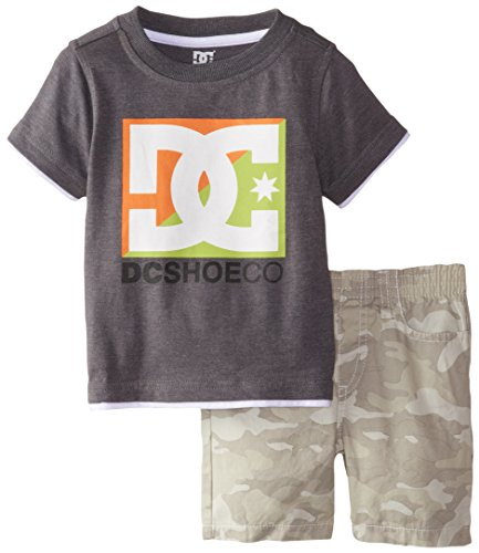 DC Shoes Co Baby Boys' Gray Tee with Green Camo Shorts