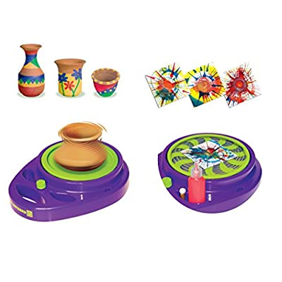Small World Toys Creative - Pottery Wheel and Splash Art Studio: Toys & Games