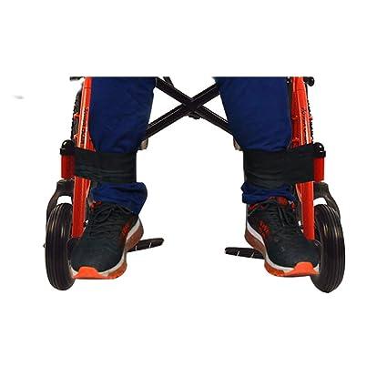QEES - Cinturón de fijación para patas de silla de ruedas - Cinturón de sujeción para