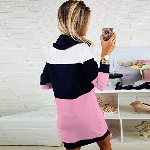 Casual Robe Fille Mini Col Ladies Femme Elecenty Longue Roulé Pour Hiver Short Pull Tops Tricot Longues Rose À Dress Automne Manches Bodycon qwfSxXRdCx