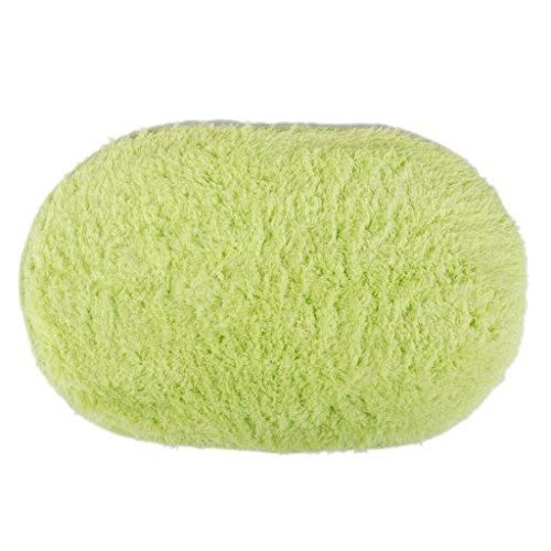 Polymer Absorption Bath Mat Soft Floor Rug Bedroom Cozy Shaggy Rug Oval Living Room Carpet (Green) by Polymer (Image #4)