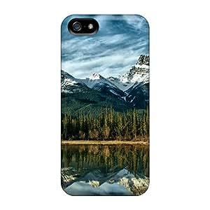 lintao diy Mwaerke Scratch-free Phone Case For Iphone 5/5s- Retail Packaging - Mountain Range Reflections
