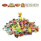 russian chocolate - Gourmet Russian and Ukrainian Chocolate & Caramel Candy Assortment (Roshen, Slavyanka, Rot Front, Red October) 3 lbs
